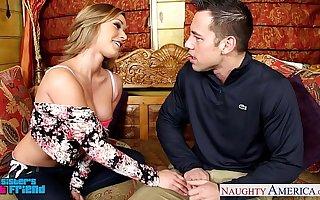 Attractive blondie Kennedy Leigh taking cock