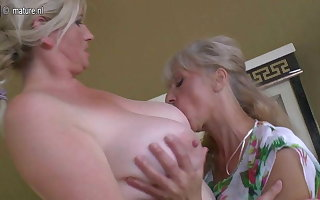Lesbian group sex down grannies and young girls
