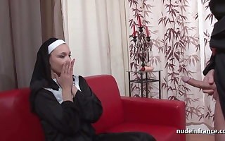 Pretty french nun ass fucked added to fisted off out of one's mind the bad celebrant