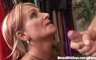 Old Sprog Joanna Depp Fucks Young Boyfriend In Dressing Room