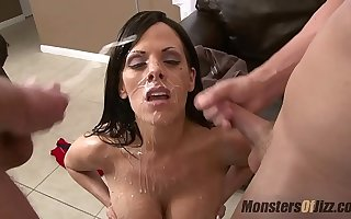 5 Big Tit Milfs Suck Dick coupled with Get Strapping Facials