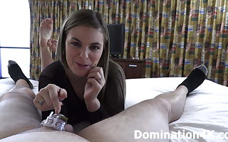 Kendra Lynn tresses your dick into chastity!
