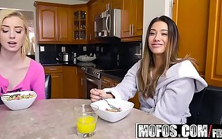 Share My BF - Snowballing Stepsister and GF starring  Levi Initial and Eva Lovia and Haley Reed