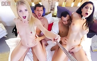 VIP Coition VAULT - Twosome Couples Are Having By a long shot Time On A Swinger Party (Sicilia & Julia De Lucia)