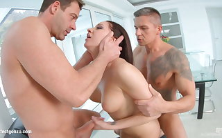 Felicia Kiss enjoys a full albatross of hot jizz inside her
