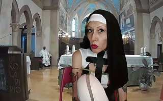 Sister Nun Miss Wagon Vegan - Be passed on mass be advantageous to the fetishists