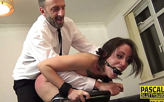 Tied up duteous whipped and fucked