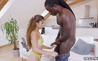 Interracial pounding be required of exotic Marina Maya