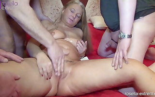Santa Rosella empties your balls and bladder! Part 3
