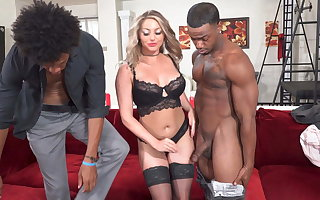 Cuckold In Latex Watches As A Kayley Gunner Goes To Heaven