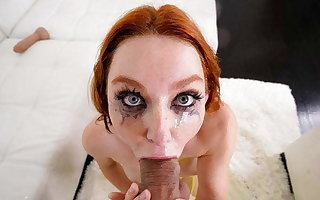 Throated - Redhead Lacy Lennon Sloppily Throat Fucked