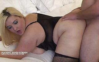 Blonde big tits pornstar Kandi Kobain fucked