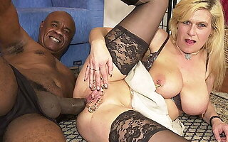pierced milf irritant fucked by a funereal monster cock