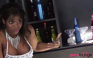 Black babes in foursome get eaten out