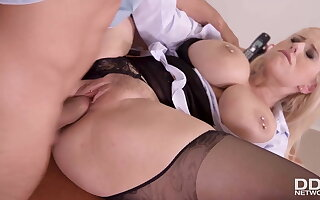 Deputy Reports for Duty in Voluptuous Underwriter Wicky's Ass