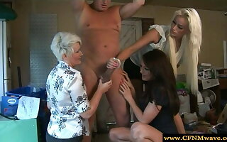 CFNM femdoms sucking approximately humiliate their sub