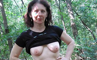 74yr old Granny with Hairy Pussy – POV Alfresco Sex with Teen