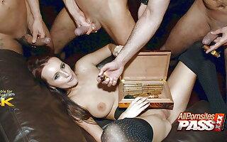 Cigar Tycoon Claudia Adams Gangbanged By Aristrocrats 4k