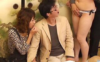 Aberrant Japanese game show couple watches orgy unfold