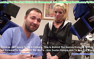 $CLOV – BUSTY Blond Bella Ink Gets Gyno Exam Exotic Doctor Tampa