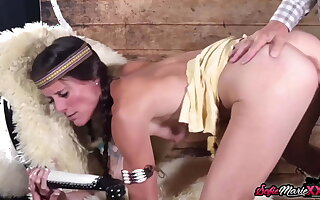Pocahontas MILF Sofie Marie Sucks And Rides Huge Hard Dick