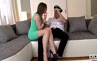 Tina Kay fucks the daylights out of her Pilot Old hat modern