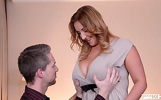 Observe couple's juicy titty fuck with the addition of watch Krystal Swift's big boobs shake