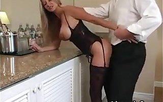 Blonde MILF Crippling Lingerie Wants His Dick HotWifeRio.com