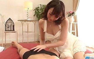 Hitomi Oki amazes there the brush queasy skills in sucking cock