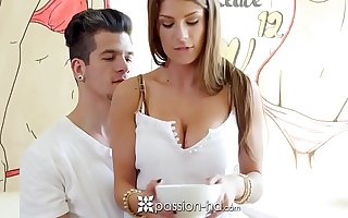 PASSION-HD Whip cream licking and screwing with Dillion Carter