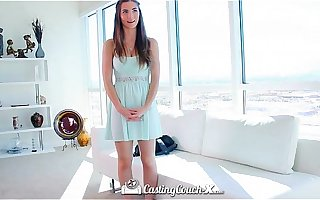 HD CastingCouch-X - Beautiful Molly Jane with natural Bristols auditioning for sex