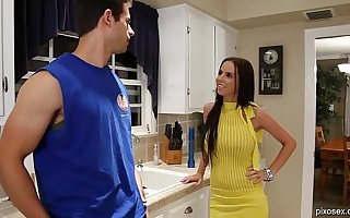 Heavy Knocker Brunette Pornstar Brandy Aniston Gets Fucked In Her Yellow Rags