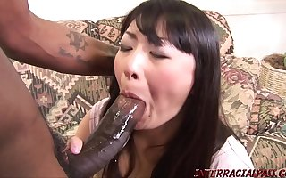 Housewife lets obese black flannel fuck her then swallows