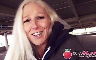 Piping hot GERMAN Blonde Cam Angel BANGED in PUBLIC by unpremeditated date! (ENGLISH) Dates66.com
