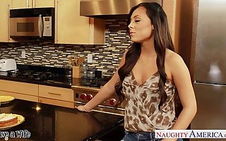 Superb wife Gianna Nicole gets nailed relative to scullery
